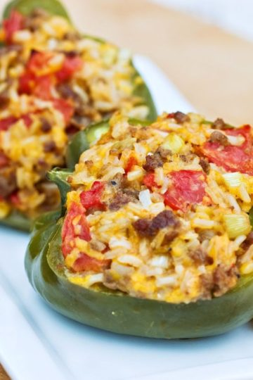Stuffed Peppers with Ground Beef