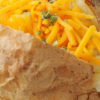 Microwave Cheesy Baked Potato with Sour Cream