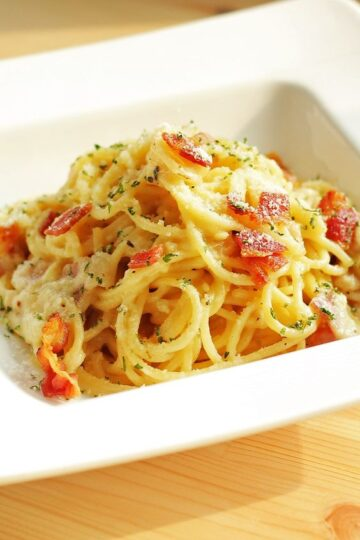 Quick and Easy Spaghetti with Bacon