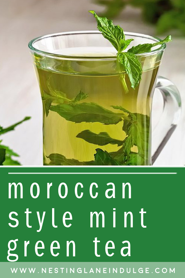 Graphic for Pinterest of Moroccan Style Mint Green Tea
